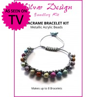 Beaded Macramé Kit - Metallic Acrylic Sparkle